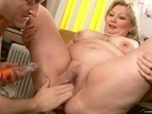 Секс с жирной тетей