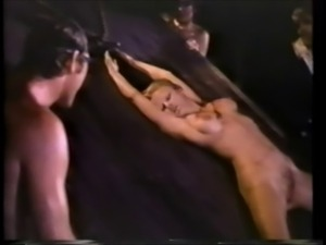 Poor Cecily classic rack scene