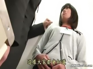 Cute Asian office slut gets abused part3