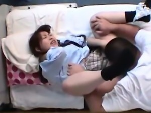 Japanese Schoolgirl get a massage and a fuck