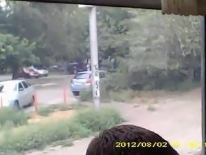 Bus upskirt