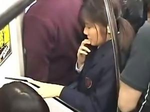 Girl in School uniform public forced Orgasm