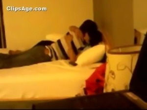 Indian desi Tanushree from Bilaspur enjoying foreplay with her boyfriend in...