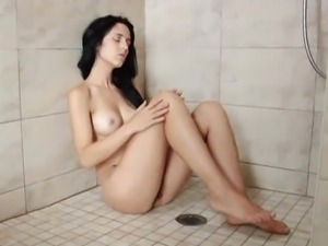 Sensual masturbation in the shower