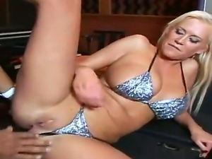 Attractive curvy blonde whore Curvy Carly Parker with gigantic juicy knockers...