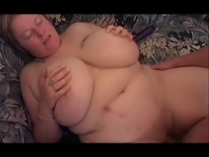 Beautiful Big Titted Blonde BBW Gets Boned