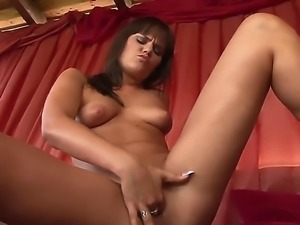 Arousing hottie Rosee loves to play with her clit and masturbate in naughty solo