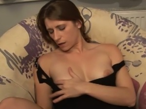 German milf masturbates in the bathroom