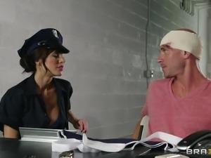 naughty police slut serving a big dick prisoner