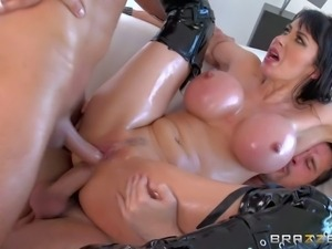 Eva Karera is a breathtaking hot MILF with gigantic fake tits. Hot busty...
