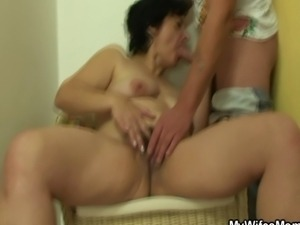 Wife going mad when catches her man fucking mother in law.