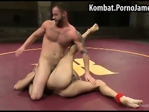 Naked guys wrestling