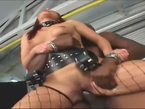 Wild BDSM interracial sex by professionals