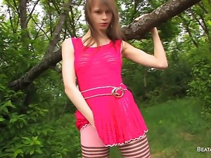 Beata satisfies her sexual needs alone in solo action