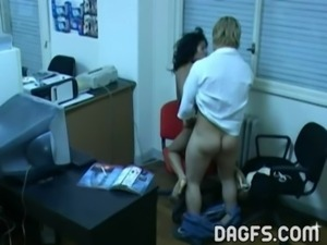 Latin office fuck caught by hidden cam free