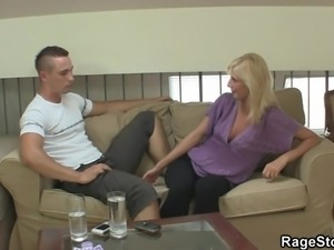 he made sure she won't need another cock