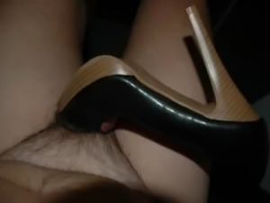 I adore women highheel shoes and love to fuck them. This peep toe platform...