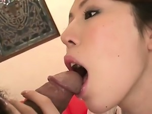 Rino in purple undies splits her pretty pussy for a hard