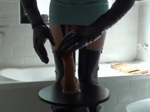 Latex Nurse & Anal Fuck In Hunter Rubber Boots