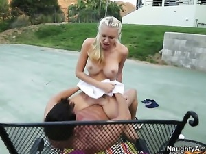 Oriental Katie Summers with juicy ass wants sex desperately and gets it from...