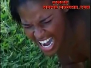 African Amateur Black Girl Gets Anal Destroyed By Big Cock free