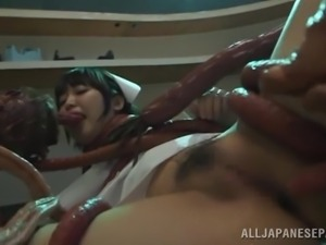nurse gets fucked by tentacle monster