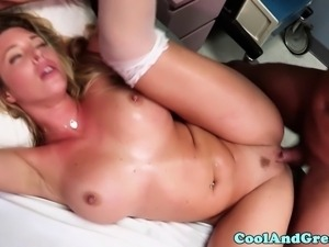 Amazing horny nurses Rilynn Rae and Samantha Saint is fucking patient