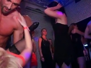 Filthy drunk chicks are having sex fun in the club