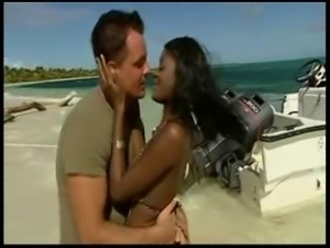 Nude Beach - Hot Ebony Anal with great CIM Facial