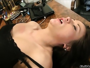 Christoph Clark bangs as hard as possible in anal porn action before she...