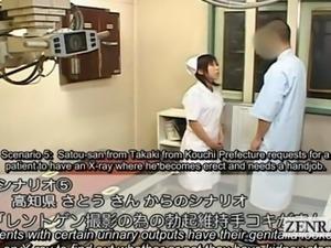 Subtitle CFNM Japanese nurse patient strip handjob xray