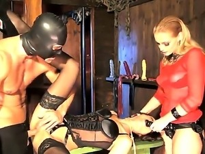Blonde mistress Kathia Nobili is dominating over her enslaved girlfriend...