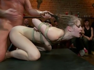 Sensi Pearl gets fucked hard in public