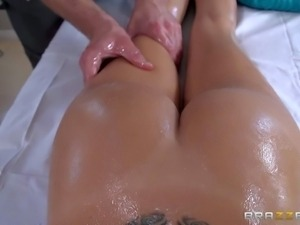 Erica Fontes is one lovely european honey. She is nude on massage table and...