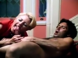 Vintage blonde gets her hairy cunt banged