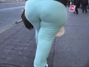 Candid Big Asses Selection - slow motion 4
