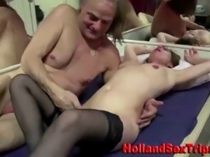 Nasty euro whore fucks and sucks cock and gets fingered