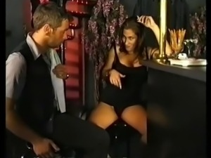 Sexy German slut chainsmokes during blowjob.