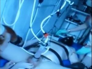 dick stooge tortured  to pump electrik milk