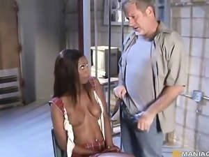 Punished by cock in prison