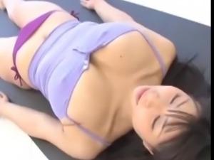 Cameltoe yoga bikini stretching