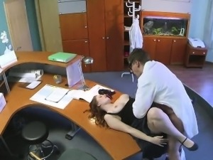 Busty assistant getting fucked by the doctor