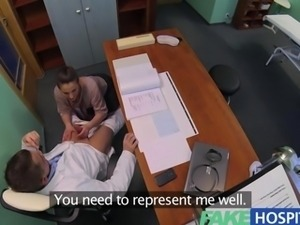 FakeHospital Horny saleswoman strikes a deal with the dirty doctor by sucking...