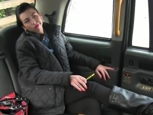 Horny amateur anal fucked by fake driver for a free fare