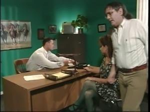 retro busty milf anal in office