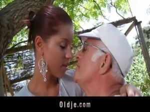 Big dick oldman fucks his much younger sexy girlfriend free
