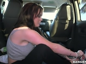 busty babe gets banged in the bus