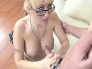 Busty Cougar Gets Sprayed With Huge Loads Of Cum