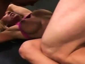 Hardcore Blonde Sports milf riding cock
