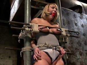 Busty pornstar crying anal